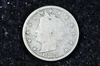 ESTATE FIND 1887 - LIBERTY V NICKEL W/CENTS   H9161