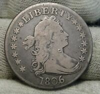1806/5 DRAPED BUST QUARTER 25 CENTS    NICE COIN   8381