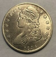 1836 CAPPED BUST HALF DOLLAR 50 CENT PIECE LETTERED EDGE SIL