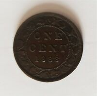 CANADA 1888 VICTORIA ONE CENT OLD BRONZE COIN
