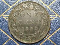 1892 CANADIAN LARGE PENNY QUEEN VICTORIA LOT B17