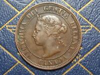 1893 CANADIAN LARGE PENNY QUEEN VICTORIA LOT B18