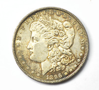 1896 $1 MORGAN SILVER ONE DOLLAR US  VAM 20 BAR 6 HOT 50 AU