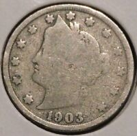 LIBERTY NICKEL - 1903 - $1 UNLIMITED SHIPPING