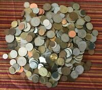 WORLD COIN 6 POUND LOT  APPROXIMATELY 550  MIXED FOREIGN COINS  SAMPLE PHOTOS