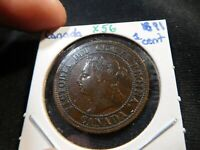 X56 CANADA 1891 LARGE CENT