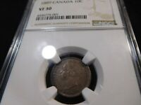 Y13 CANADA 1889 10 CENTS NGC VF 30
