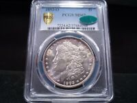 1893-O MINT STATE 62 MORGAN SILVER DOLLAR PCGS/CAC CERTIFIED - GOLD SHIELD HOLDER -