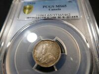 A21 CANADA 1920 5 CENTS PCGS MS 65