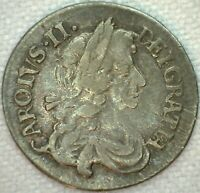 1679 GREAT BRITAIN THREEPENCE 3 PENCE SILVER COIN KM 433 YG YOU GRADE K31