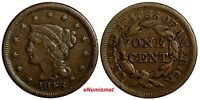 US COPPER 1846 BRAIDED HAIR LARGE CENT 1C SMALL DATE EX.LUX FAMILY COLLECTION