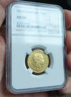 KING GEORGE THE III 1817 GOLD SOVEREIGN NGC AU50
