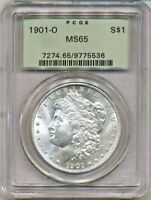 1901-O MORGAN PCGS MINT STATE 65 UNCIRCULATED SILVER DOLLAR COIN OGH NEW ORLEANS MINT $1