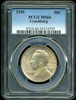 1936 50C LYNCHBURG COMMEMORATIVE HALF DOLLAR MINT STATE 66 PCGS 36334555