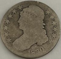 1830 50C CAPPED BUST SILVER HALF DOLLAR REMODELED LARGE O AG-G