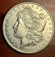 1880-P BU MORGAN DOLLAR - HIGH MINT STATE DMPL REVERSE - A BEAUTY 234