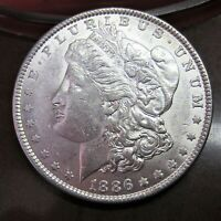 1886 MORGAN SILVER DOLLAR / HIGHER GRADE