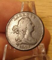 1805 STEMS LARGE 5 HALF CENT VF.PRICED TO SELL.LOT 3709