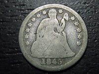 1845 SEATED DIME  --  MAKE US AN OFFER  W4703 ZXVC