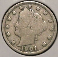 LIBERTY NICKEL - 1901 - $1 UNLIMITED SHIPPING