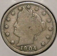 LIBERTY NICKEL - 1904 - $1 UNLIMITED SHIPPING