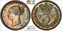 GREAT BRITAIN VICTORIA SILVER 1887 3 PENCE PCGS PL64 PROOFLIKE TONING KM 730