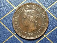 1886 OBV C1A CANADIAN LARGE PENNY QUEEN VICTORIA LOT B7