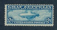 DRBOBSTAMPS US SCOTT C15 MNH OG SOUND ZEPPELIN STAMP W/NATUR