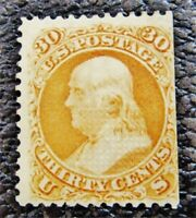 NYSTAMPS US STAMP  100 MINT OG H $8500 GRILL