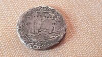 8 REALES SILVER COB POTOSI 1692 FIND WITH METAL DETECTOR