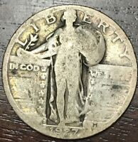 1927 S STANDING LIBERTY QUARTER   GOOD CONDITION   COIN SILV