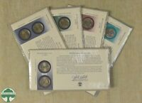SET OF 5   2000 P&D STATEHOOD QUARTER 2 COIN SET W/ ENVELOPE