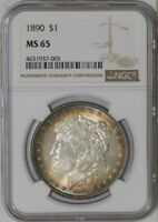 1890 MORGAN DOLLAR $ MINT STATE 65 NGC   941742-17