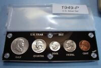 1949 SILVER SET U.S. COINS ABOUT UNCIRCULATED MINT STATE BRI
