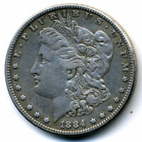 1884 P EXTRA FINE  MORGAN 90 SILVER DOLLAR US$1  EXTRA FINE LOW MINTAGE US COIN3201