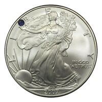 US SILVER EAGLE WITH A BEAUTIFUL SAPPHIRE SET IN LIBERTY'S HAND CUSTOM MADE
