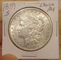 1889 S MORGAN DOLLAR CHOICE AU..COMBINED SHIPPING ONLY $3.50..LOT 4198