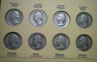 1932 TO 1964 COMPLETE WASHINGTON QUARTER COLLECTION IN LIBRA