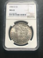 1904 O MORGAN SILVER DOLLAR NGC MINT STATE 63