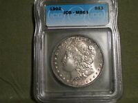 1902-P MORGAN DOLLAR ICG MINT STATE 64