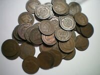1888 AND 1889 INDIAN CENT ROLL / 25 1888 AND 25 1889