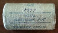 1977 TWENTY CENTS   RAM $4 MINT ROLL OF 20 COINS 'HEADS/TAIL