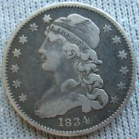 1834 CAPPED BUST QUARTER 25 CENTS
