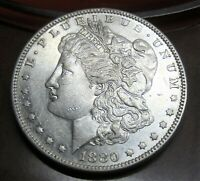 1880-O MORGAN SILVER DOLLAR /  GREAT COLOR & EYE APPEAL
