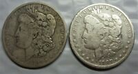 1887-O & 1891-O MORGAN SILVER DOLLARS / THESE ARE THE 2 YOU WILL RECEIVE