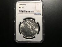 1888-S MORGAN DOLLAR NGC 61 SHOULD HAVE GRADED HIGHER SEE PHOTOS WHITE&BRIGHT
