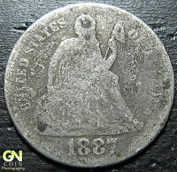 1887 P SEATED DIME  --  MAKE US AN OFFER  Y4633