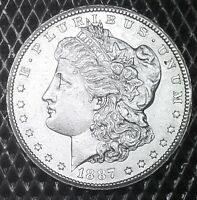 1887-S $1 MORGAN SILVER , BU CONDITION, EXCELLENT EYE APPEAL & LUSTER.