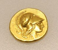 24K ANCIENT GREEK MACEDON GOLD STATER COIN
