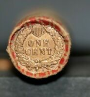 OLD INDIAN HEAD / WHEAT PENNY SHOTGUN ROLL WITH 1907 & S MIN